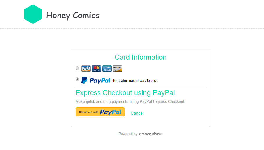 PayPal in Customer Portal
