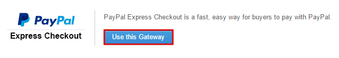 Config PayPal as Gateway