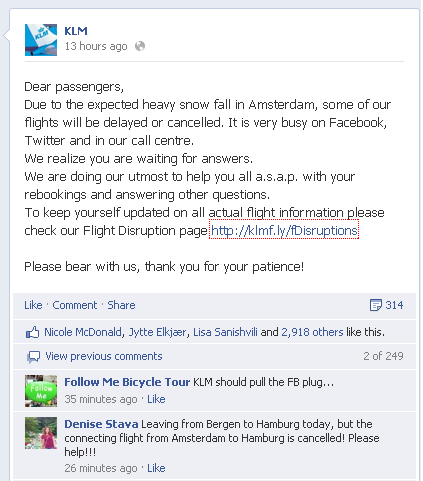 KLM Engages with Its Customers