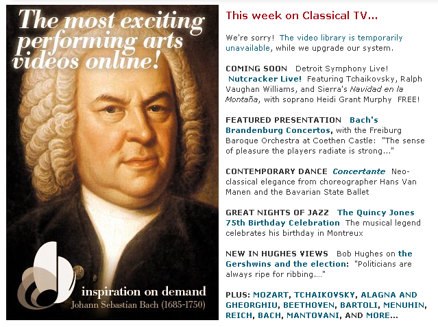 Classical TV Subscription