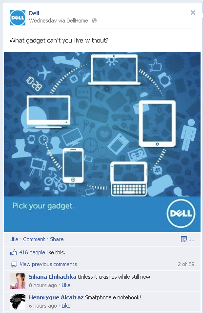Dell FaceBook US Page