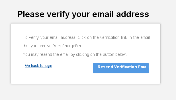 Asking user to Verify email address during second login