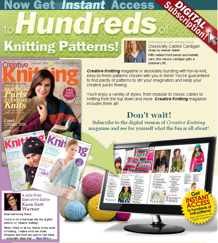 Creative Knitting Subscription