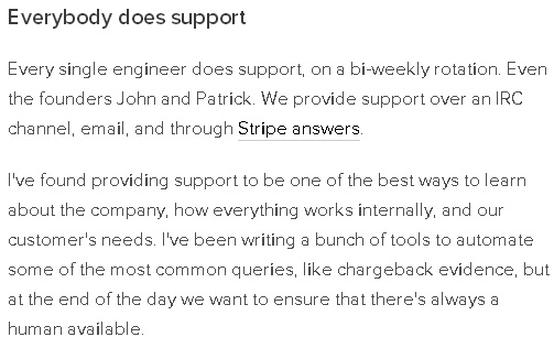 Stripe - Everyone does Support