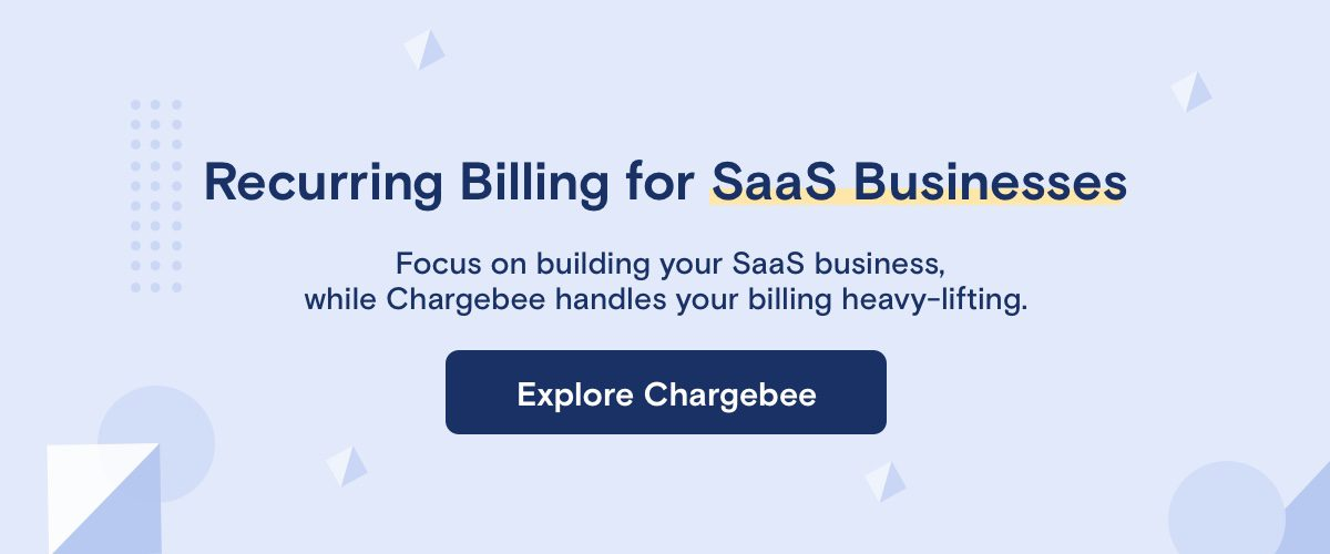 Chargebee, Recurring Billing for SaaS