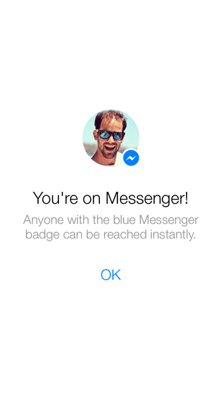 Facebook messenger's gorgeous welcome screen