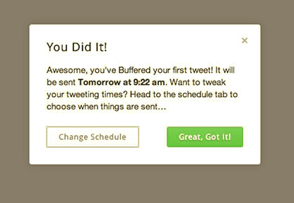 Buffer setting up customer onboarding