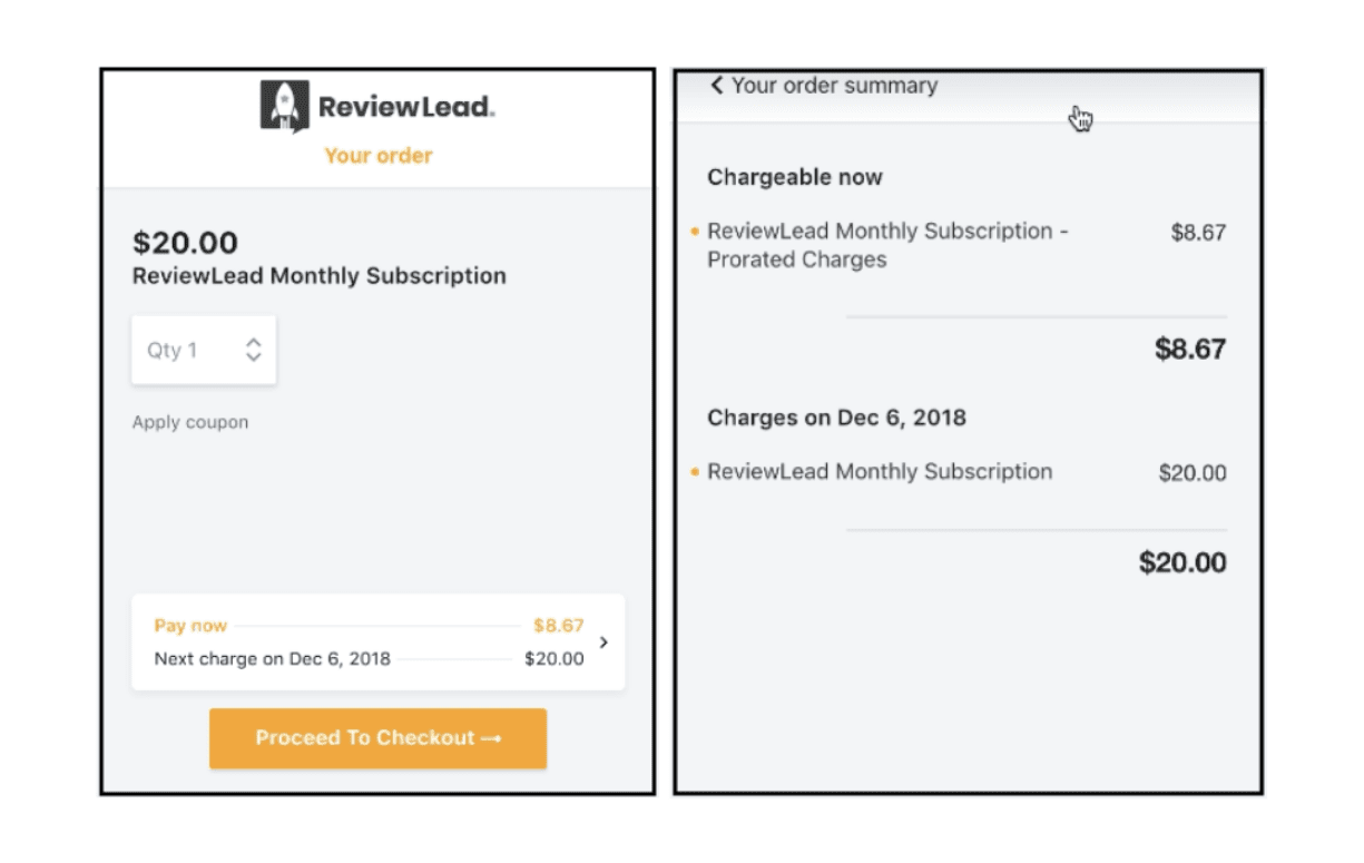 Transparent checkout to offer details on purchase information
