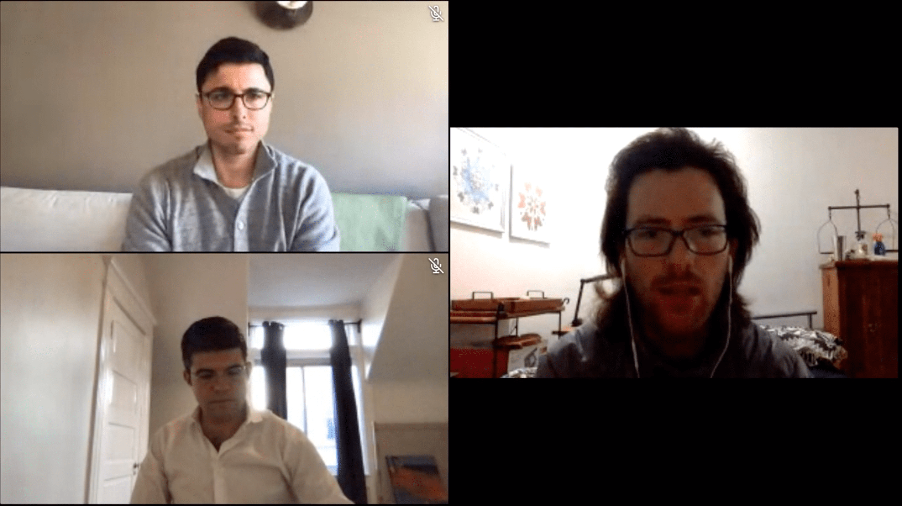 A snippet of the webinar State of SaaS Sales in a COVID-19 World, with the speakers Troy, Dailius and Germain.