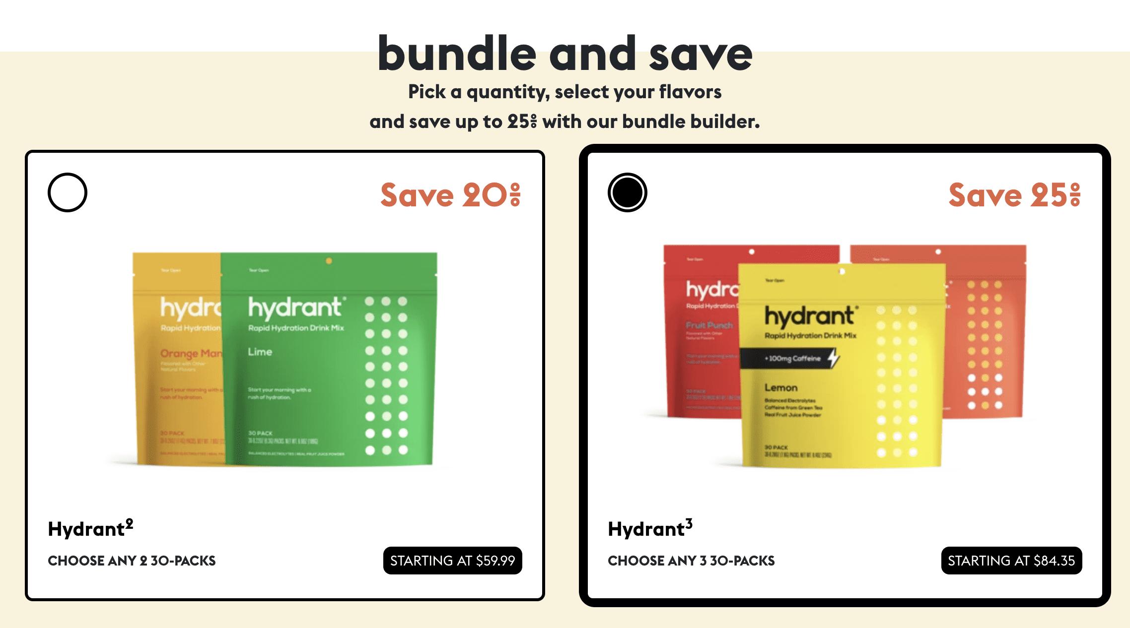 Hydrant subscription bundles