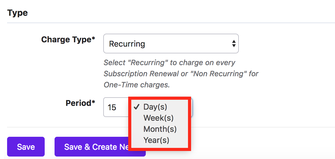 Addons: Recurring & Non-Recurring Addons - Chargebee Docs
