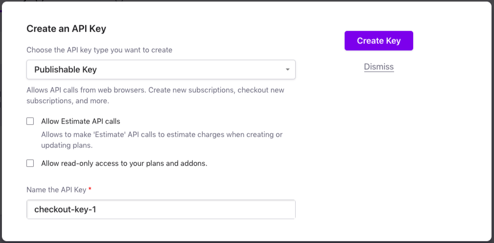 API Keys: Manage API Keys - Chargebee Docs