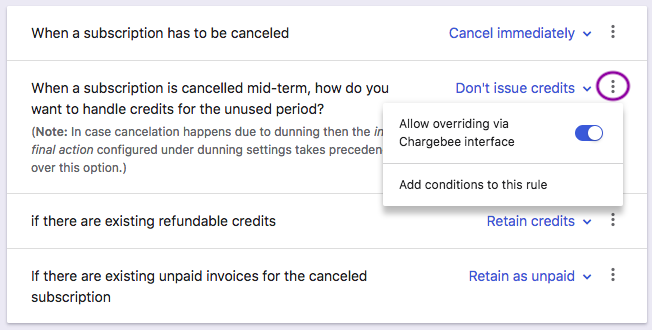 cancellations: Cancel Subscriptions - Chargebee Docs