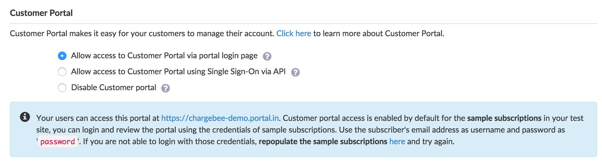 Customer Portal Self Service Portal Chargebee Docs - Open source invoice management