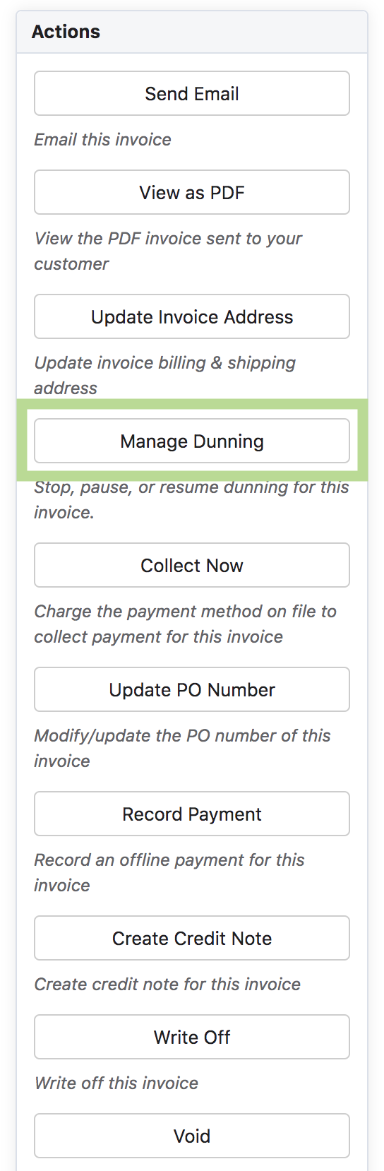 Invoice Operations - Chargebee Docs