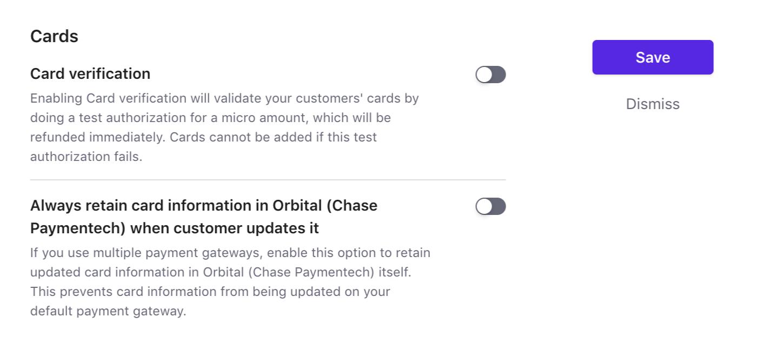 Orbital (Chase Paymentech) - Chargebee Docs