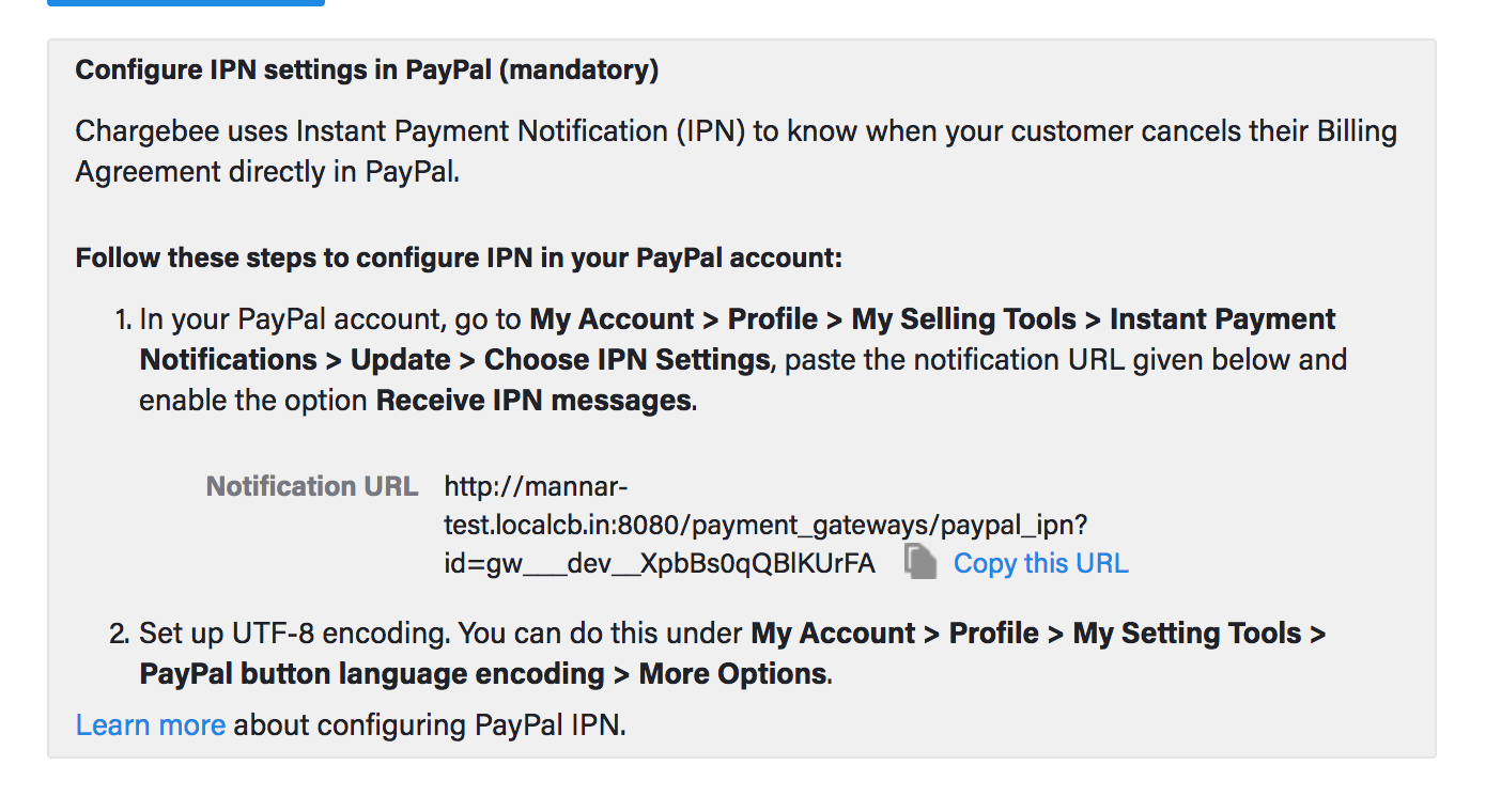 now in your paypal business account go to my account profile my setting tools instant payment notifications update choose ipn settings