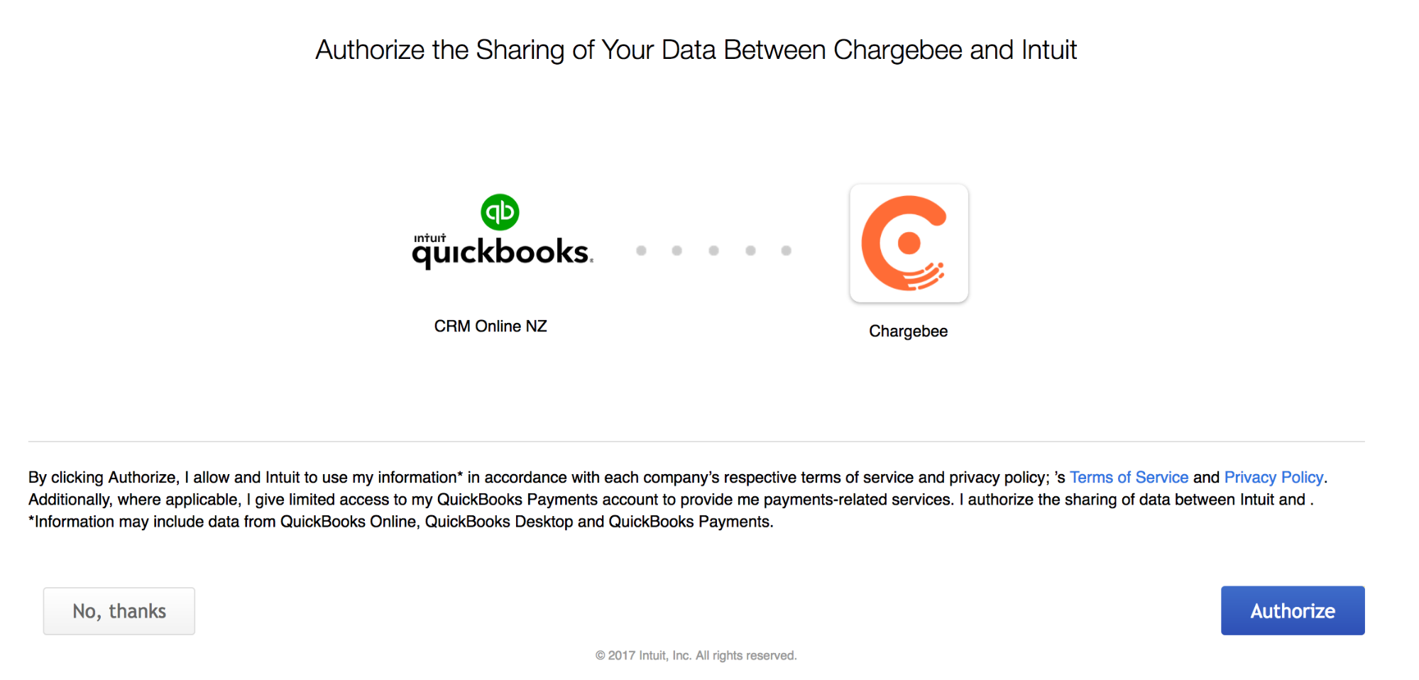ChargebeeQuickBooks Online Integration Chargebee Docs - Online invoice south africa