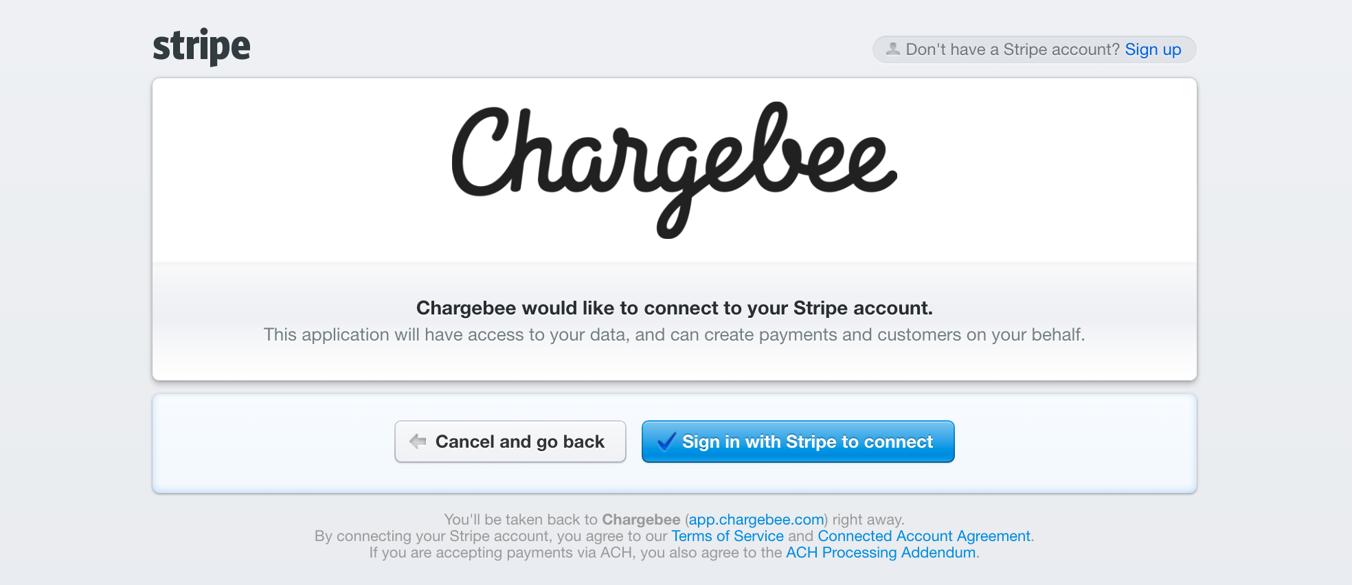 After You Select Sign In With Stripe To Connect Will Be Redirected The Login Page