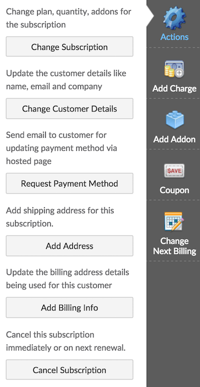 Subscriptions: Setting up Subscriptions - Chargebee Docs