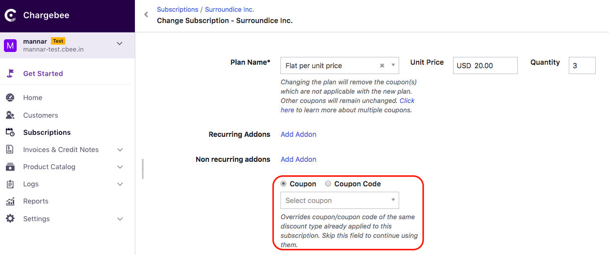 Coupons: Discount Options & Promo Codes - Chargebee Docs