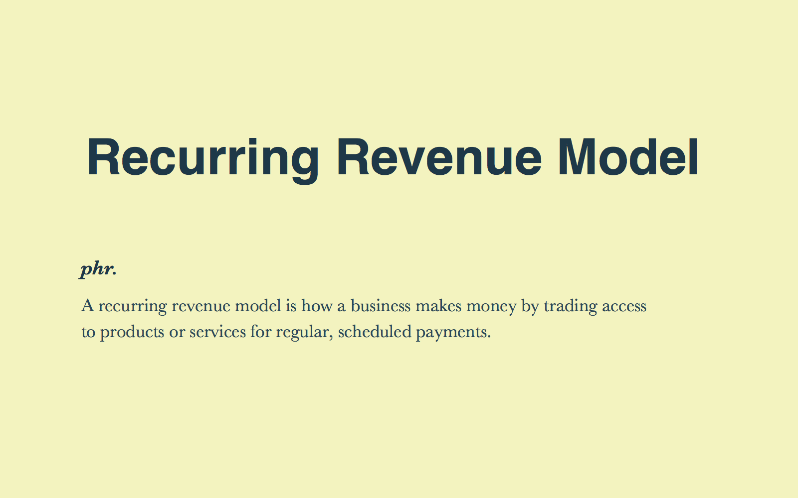 Recurring Revenue Models Explained: What You Need To Know to Get Started